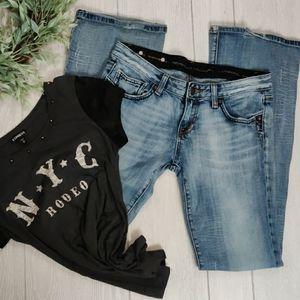 Rerock Express distressed jeans & T shirt bundle
